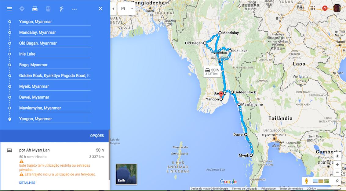 myanmar traject